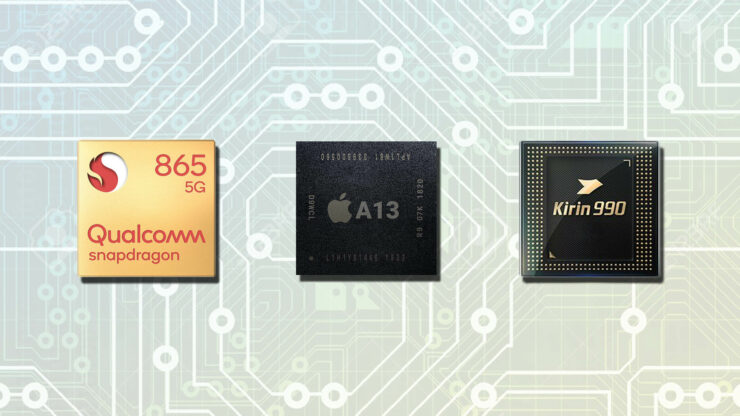 Snapdragon 865 vs A13 Bionic vs Kirin 990 performance results