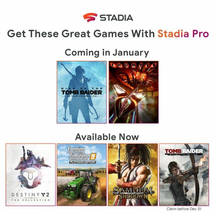 Stadia Pro January 2020