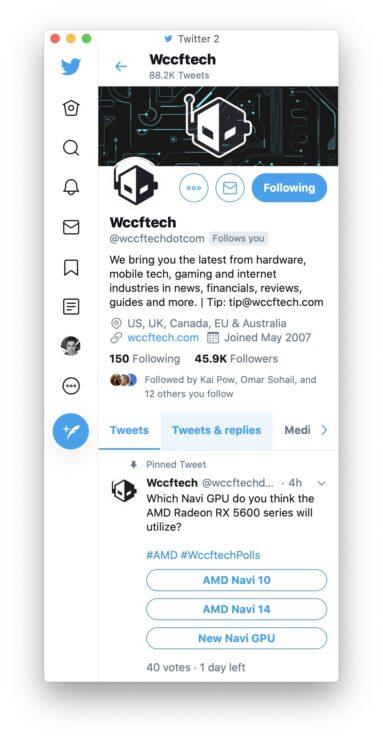 Unite 3 Twitter app