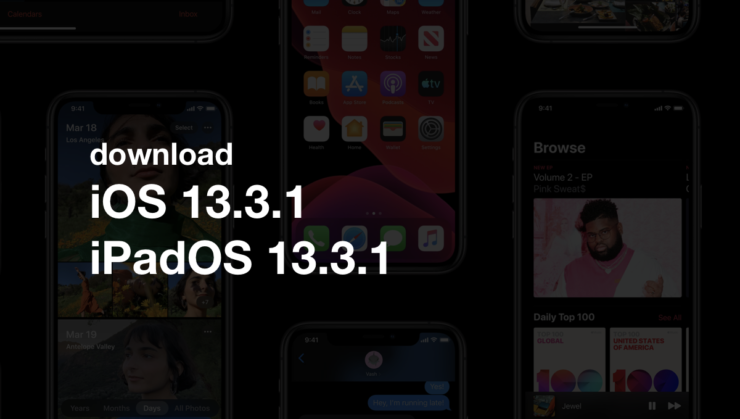 download iOS 13.3.1 / iPadOS 13.3.1 for iPhone and iPad with bug fixes