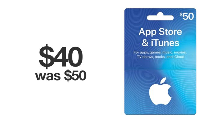 iTunes gift card for just $40