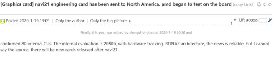 Rumor: AMD Radeon 5950 XT 'Big Navi' NVIDIA Killer tendrá 80 CU 1