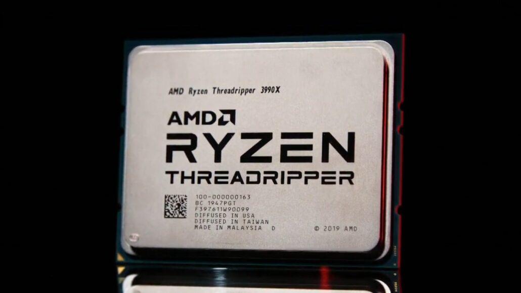 La directora ejecutiva de AMD, la Dra. Lisa Su, presenta el primer procesador de escritorio para consumidores de 64 núcleos y 128 hilos, el Ryzen Threadripper 3990X.
