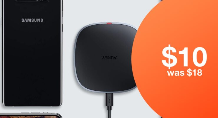 AUKEY fast wireless charger for just $10