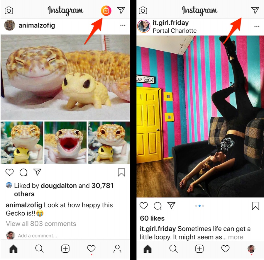 Instagram removes IGTV button