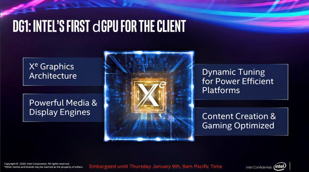 Intel Tiger Lake CPU with Intel Xe GPUs