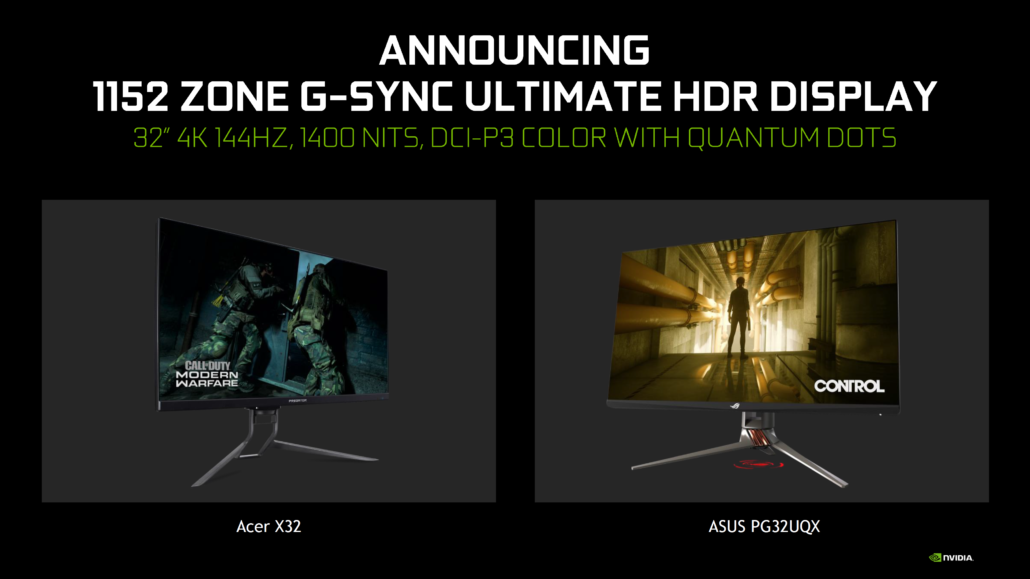 NVIDIA G-SYNC Ultimate HDR Mini-LEDs