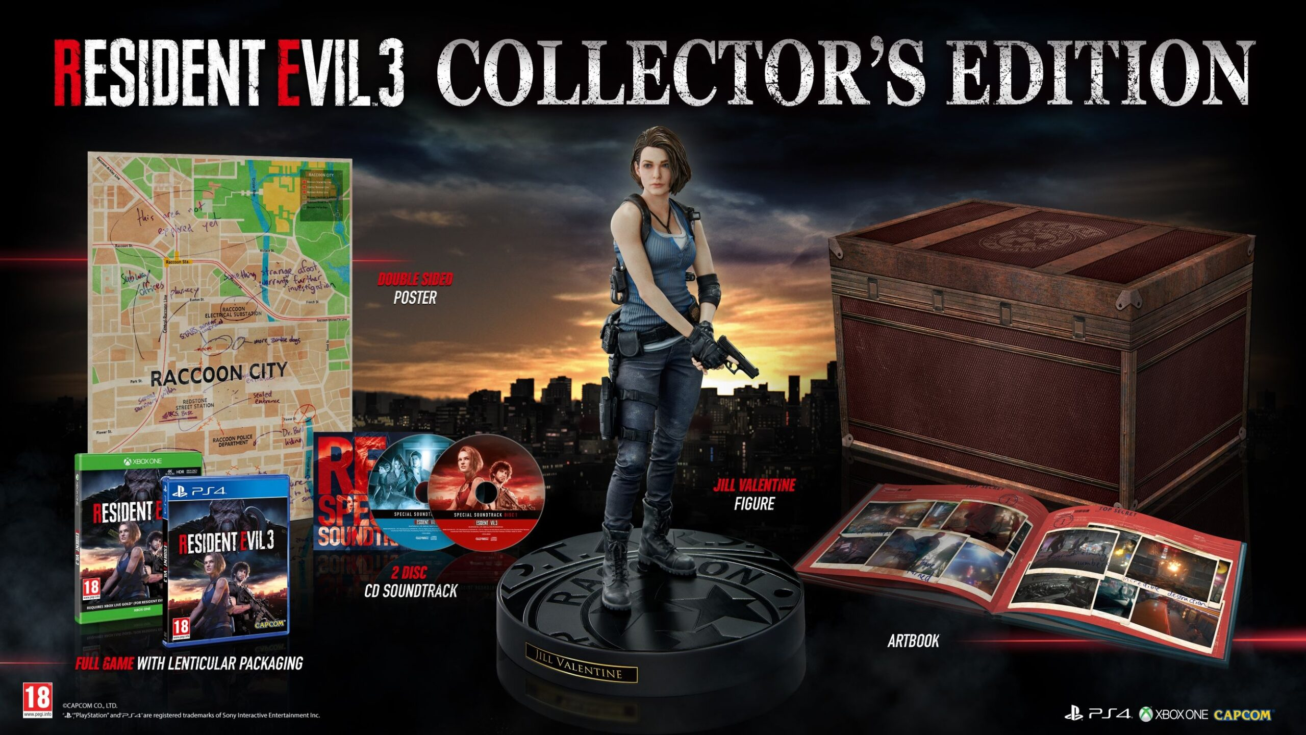 Play With Jill Valentine In The Resident Evil 3 Collector S Edition