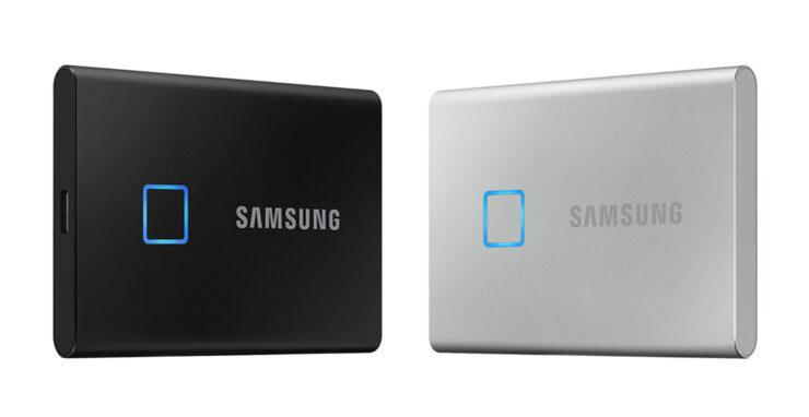 Samsung T7 Touch portable SSD fingerprint reader