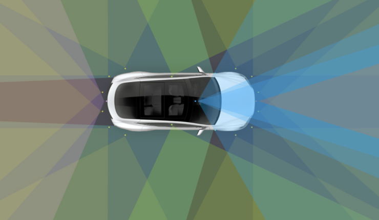 Tesla autopilot graphic