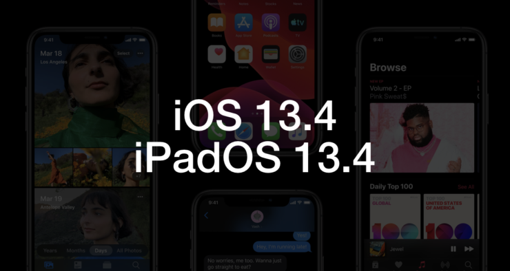 download iOS 13.4 / iPadOS 13.4 beta