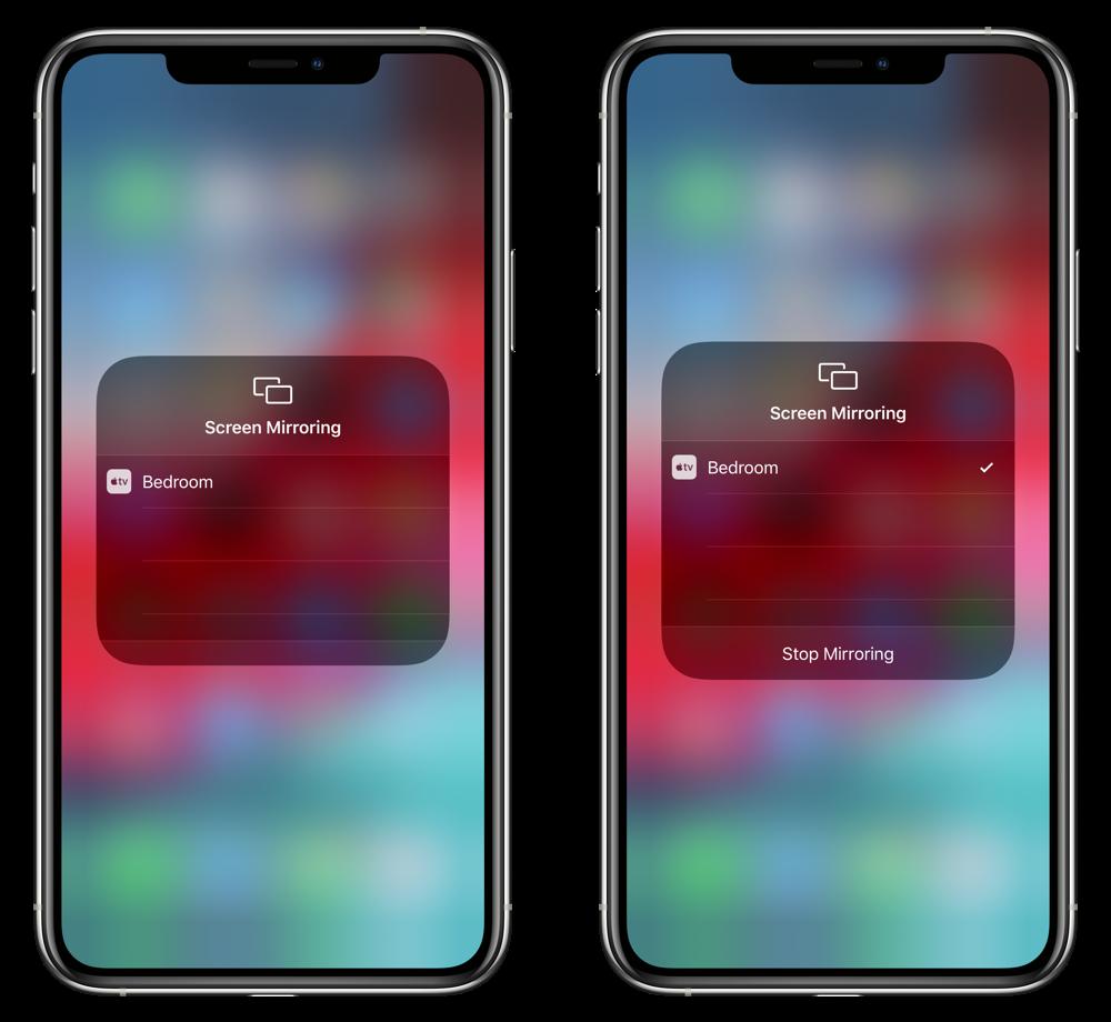 Start / Stop Screen Mirroring
