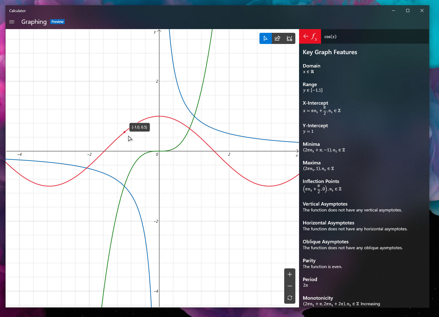 windows 10 graphing mode