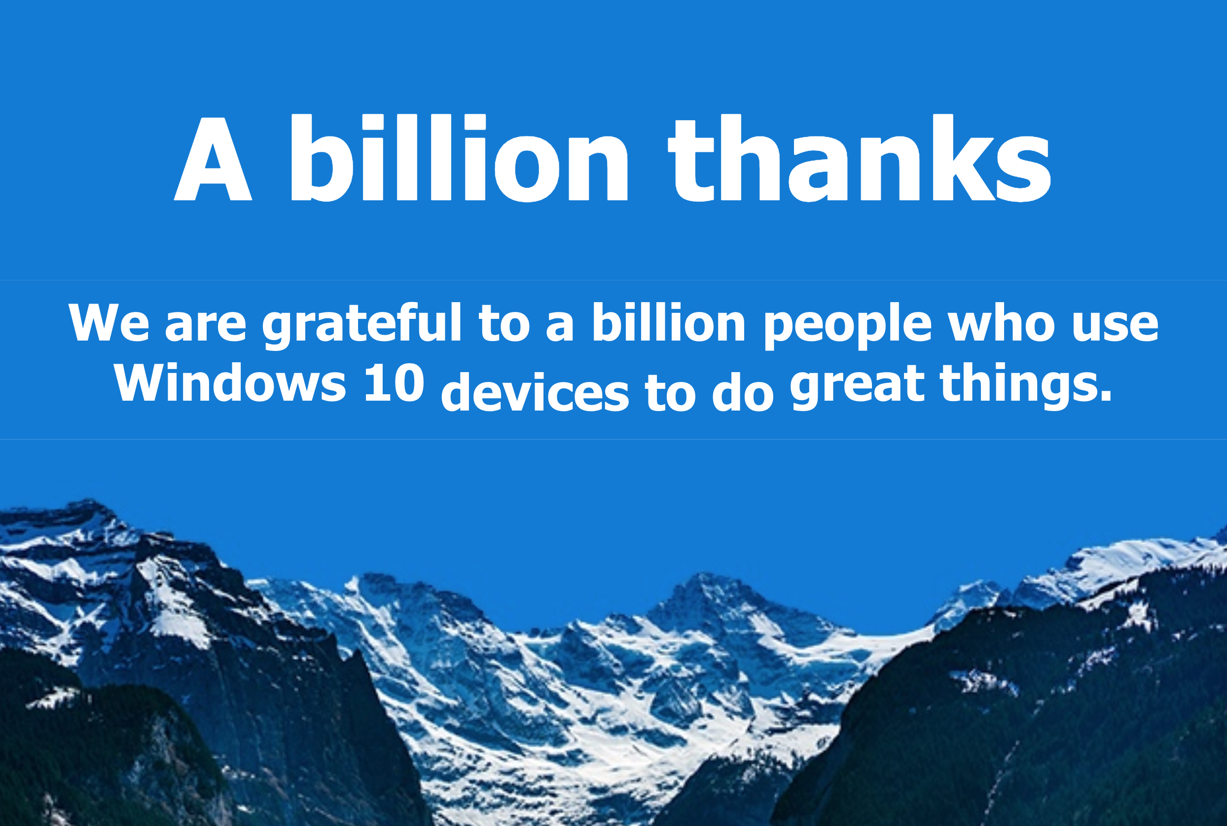 windows 10 1 billion