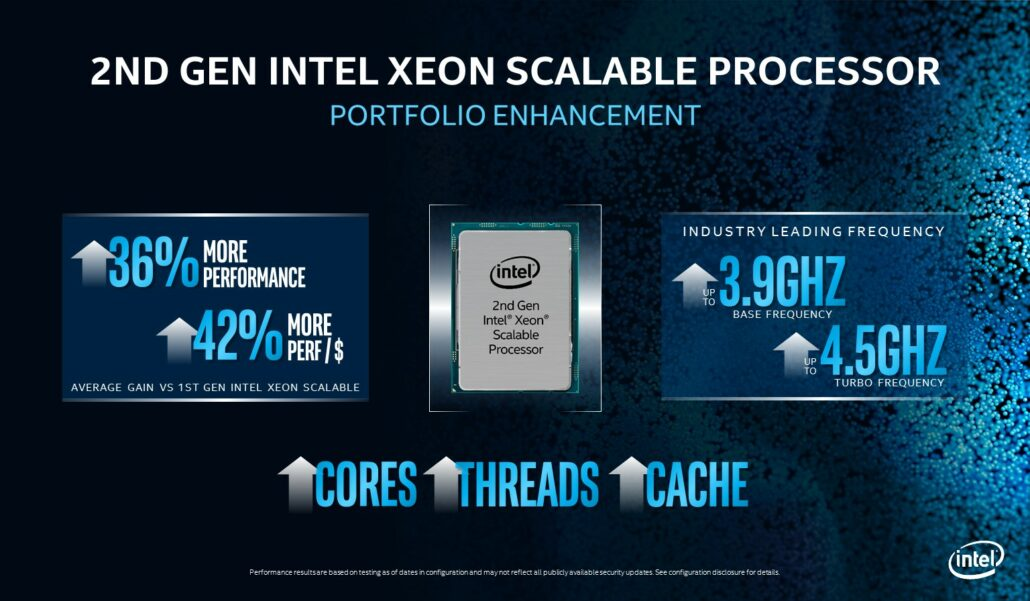 Intel 2nd Generation Xeon Scalable 'Cascade Lake' Refresh CPU Family