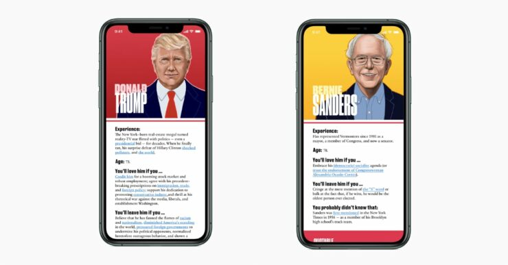 Apple News Presidential Candidate Profiles