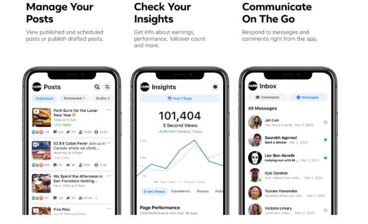 Facebook Creator Studio App