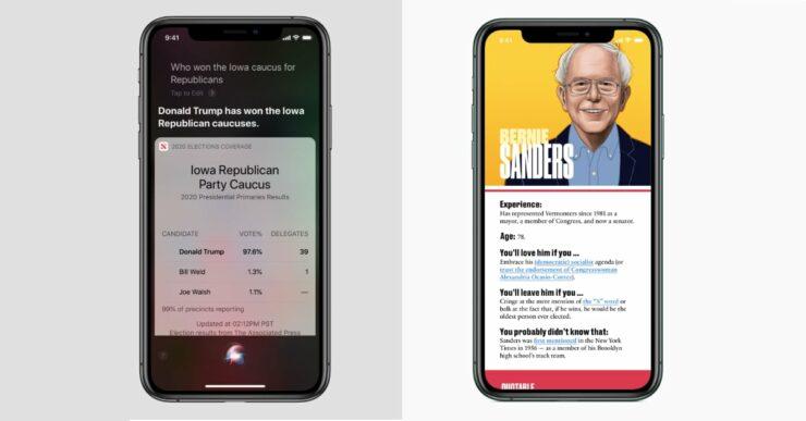 Elections Apple News Siri