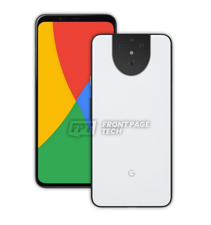 Pixel 5 Design Leaks Out Once More, This Time Showing a White Color With the Same Unique Rear Camera Module