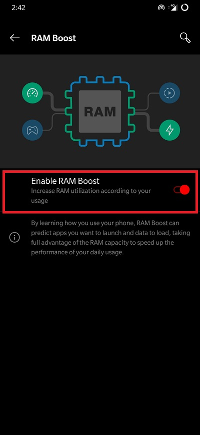 RAM Boost on OnePlus