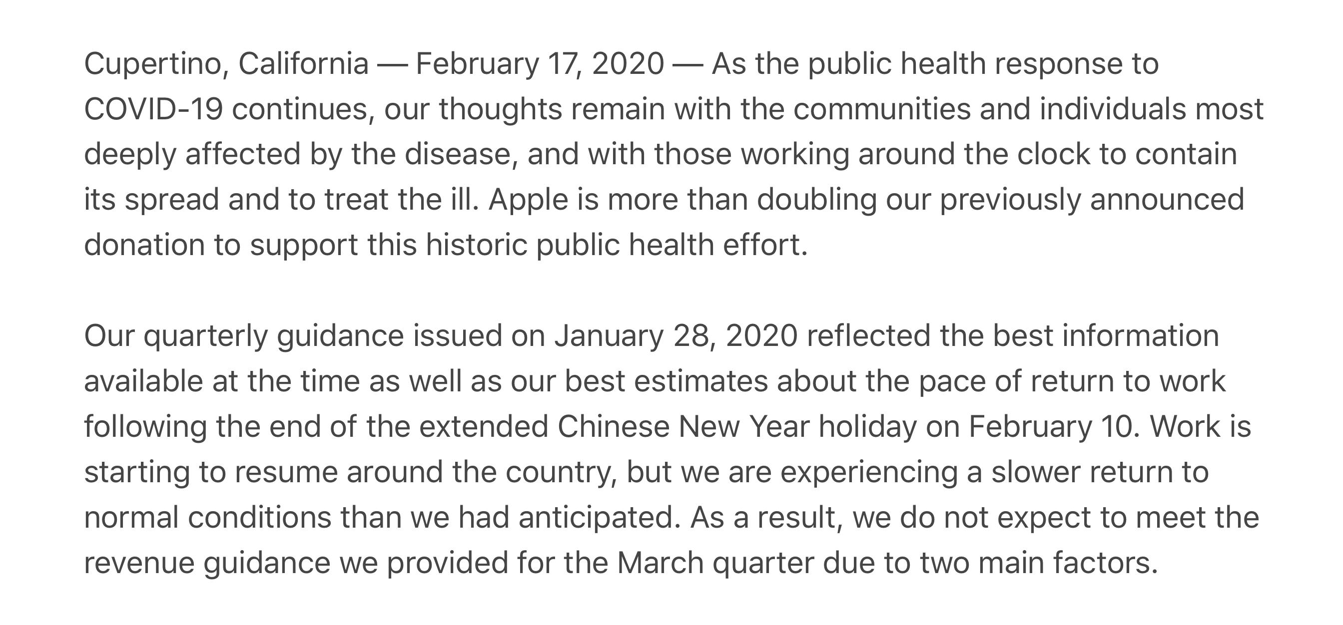 Apple earnings miss