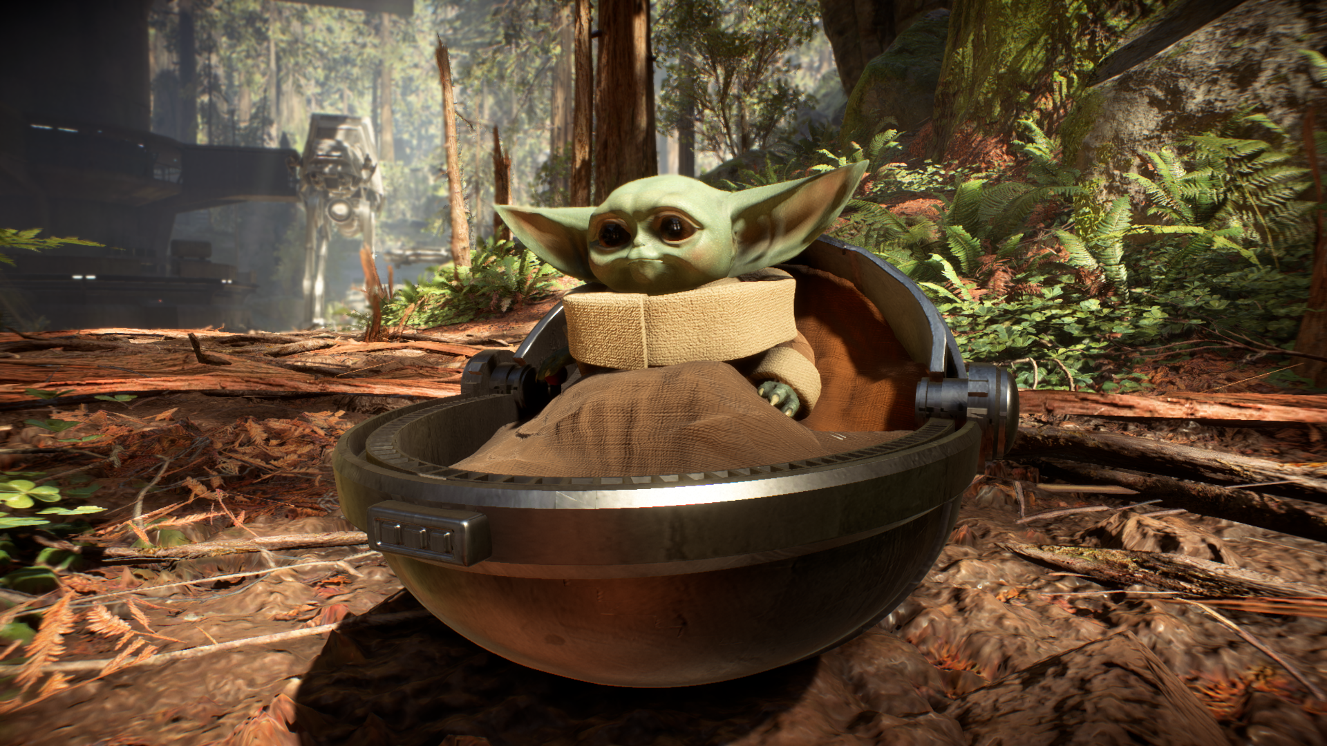 Star Wars Battlefront 2 Gets Baby Yoda Complete With Star Cards Via New Mods