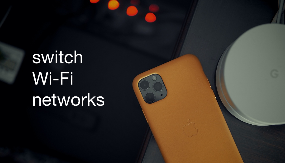 Switch W-Fi networks from iOS 13 / iPadOS Control Center