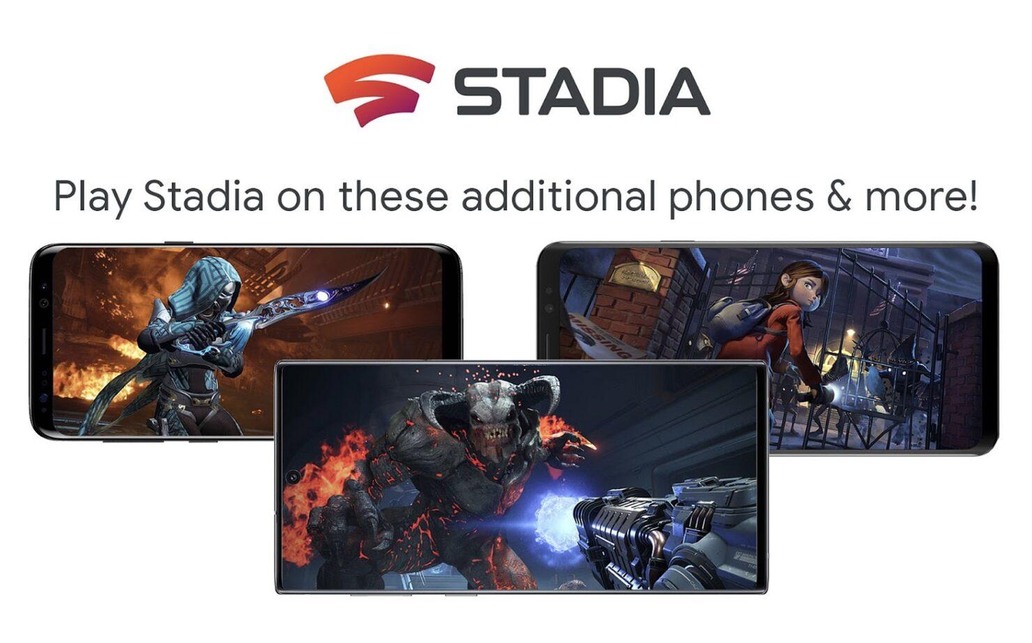 Google Stadia Android Phones