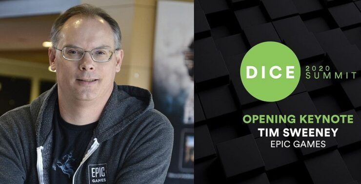 Tim Sweeney DICE 2020
