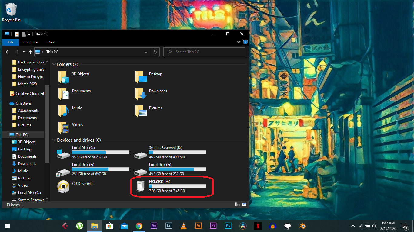 copy files from Usb to windows 10 pc