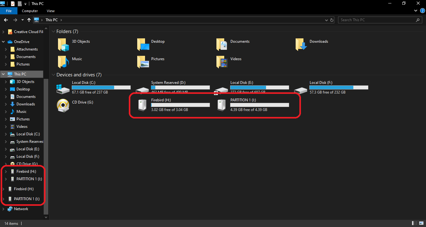set up Multiple Partitions on a Flash Drive windows 10