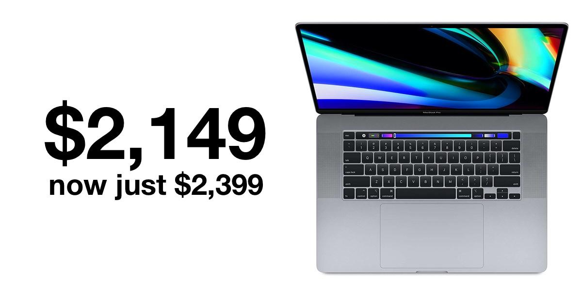 16-inch MacBook Pro sees huge drop in price on Amazon