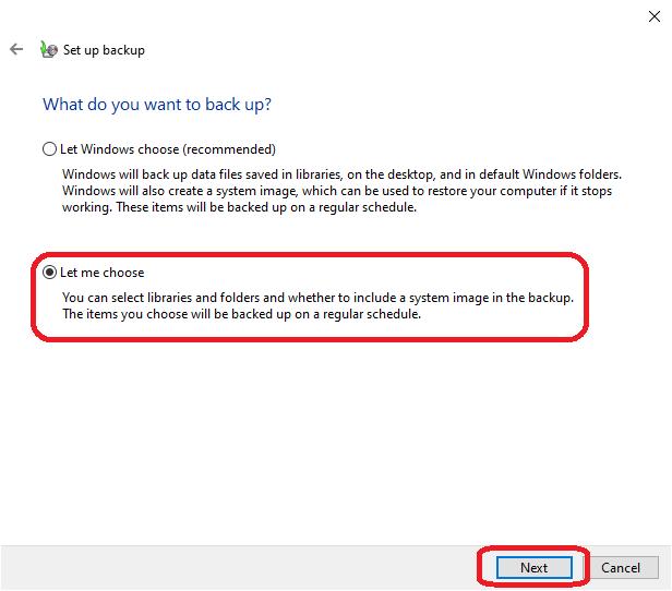 Windows 10 backup