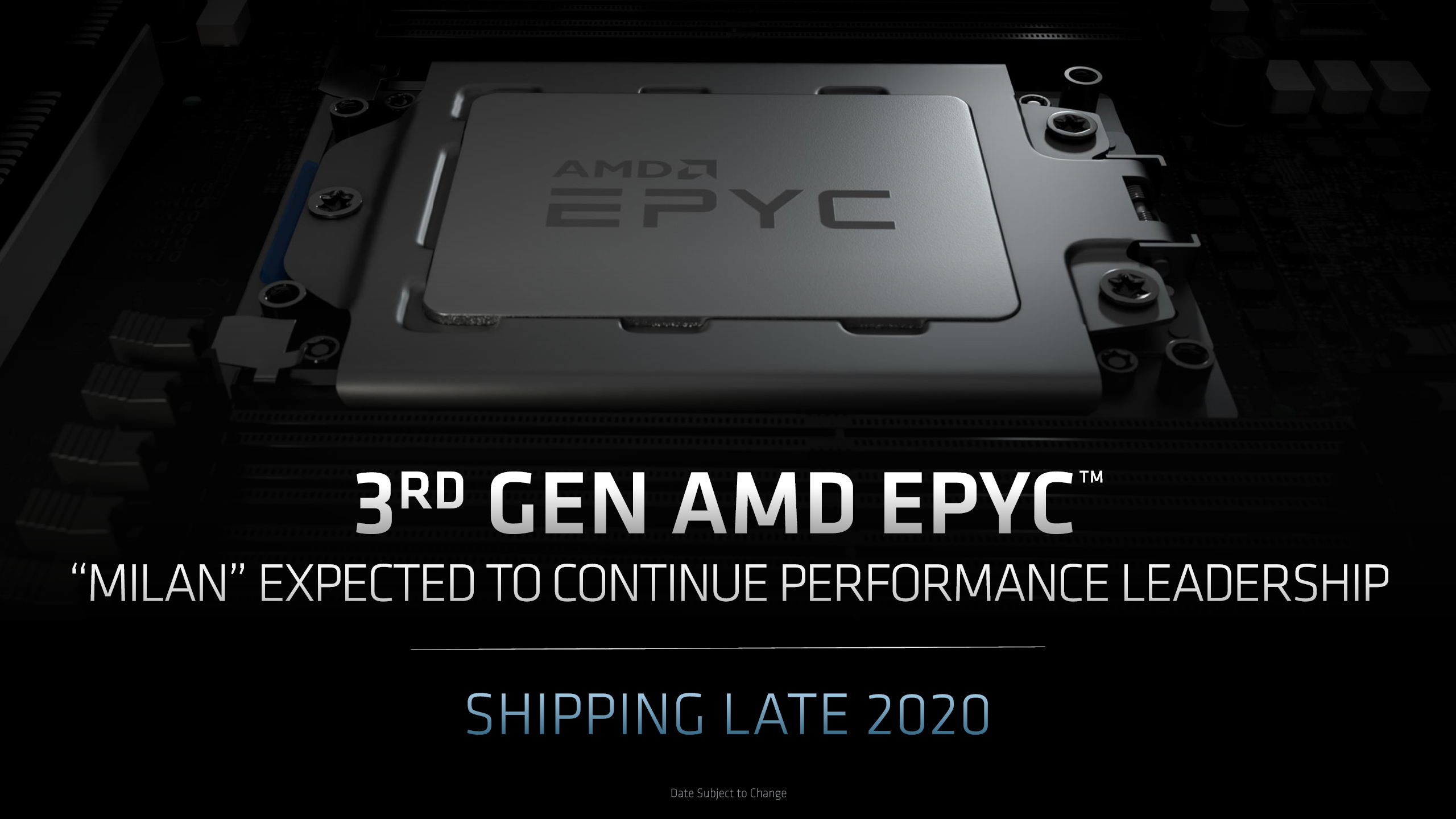 Amd Epyc Milan Cpus With 7nm Zen 3 Leak Out Up To 64 Cores
