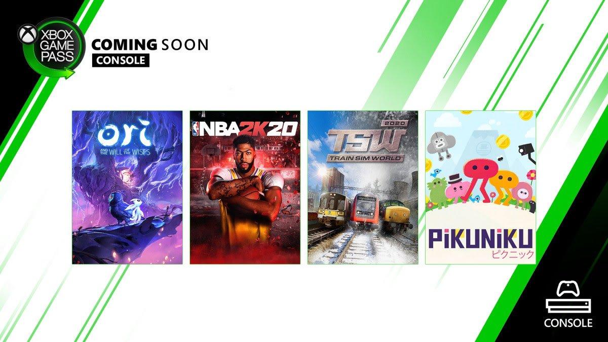 Xbox Game Pass march 2020 ori nba 2k20