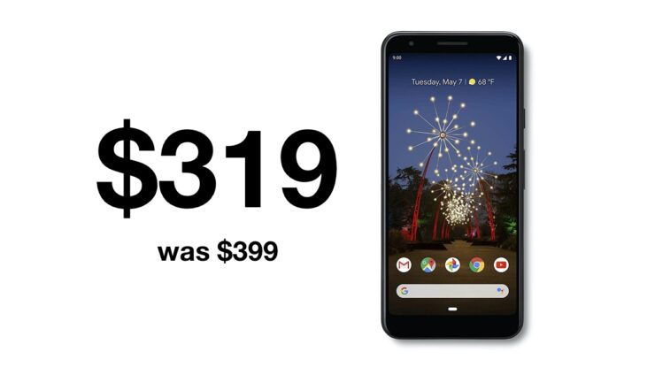 Google Pixel 3a discounted to just $319