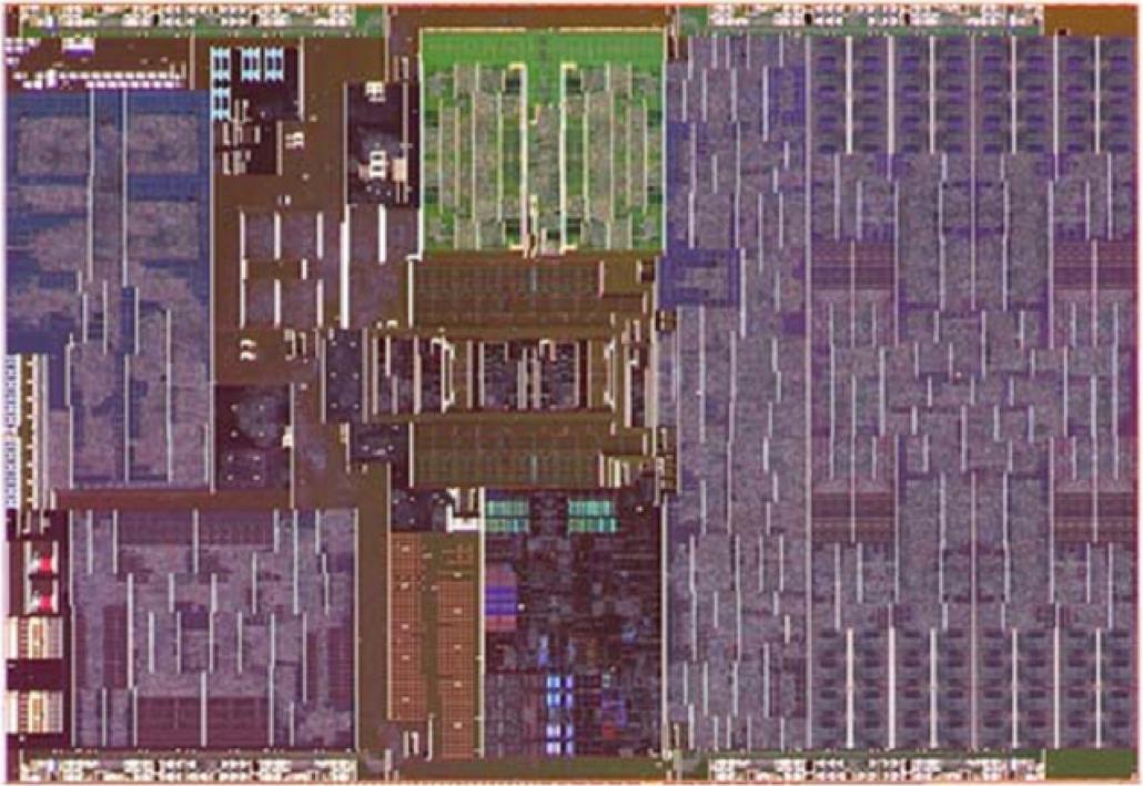 Intel Lakefield SOC die shot.