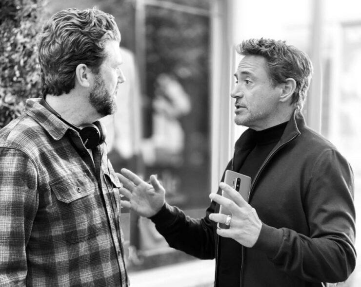 Robert Downey Jr holding OnePlus 8 Pro