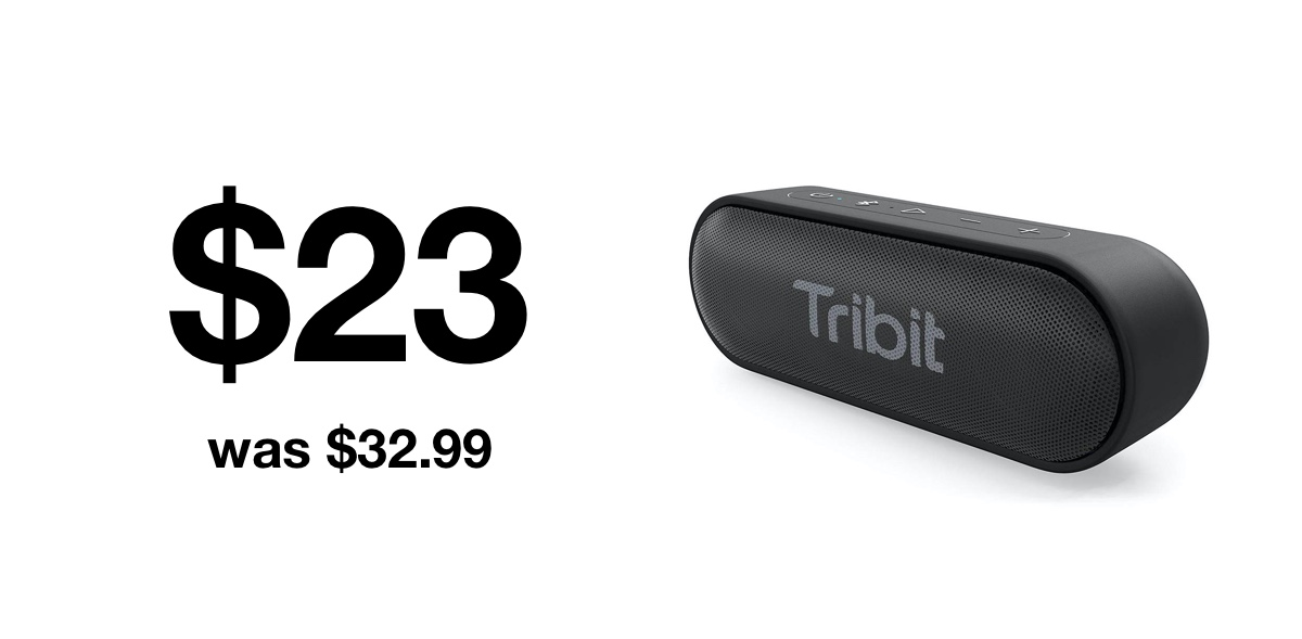 Tribit Bluetooth speaker discounted to $23