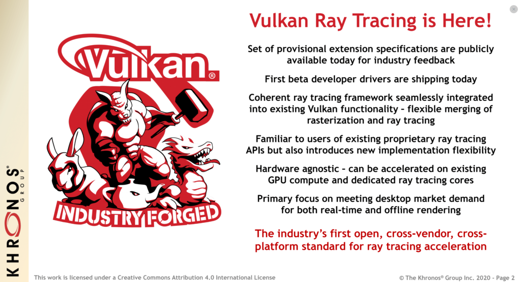 Vulkan Ray Tracing API Built Upon NVIDIA RTX Standard