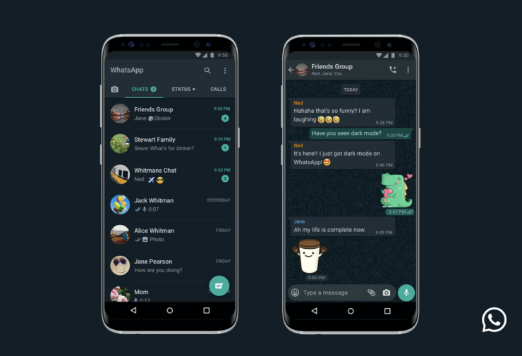WhatsApp with dark mode for iPhone and Android now available