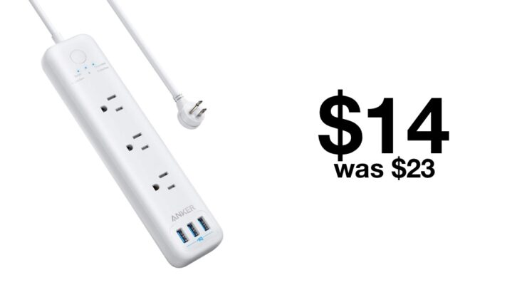 Anker 6-in-1 power strip discounted to $14