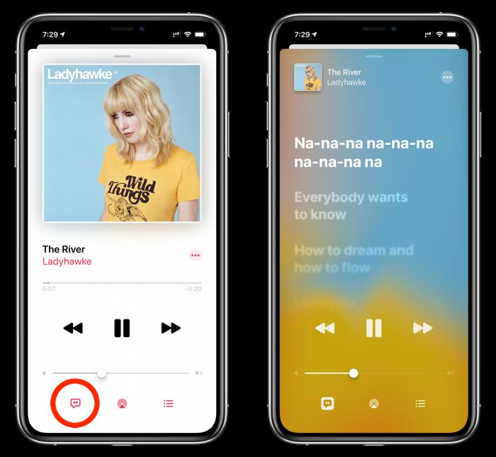 View live lyrics in Apple Music
