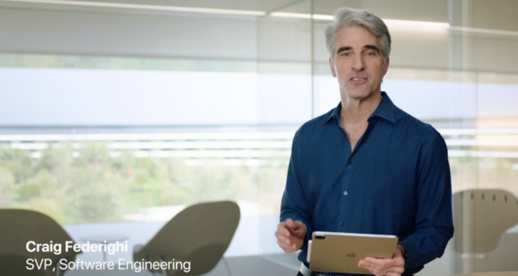 Craig Federighi demos 2020 iPad Pro and Magic Keyboard with trackpad
