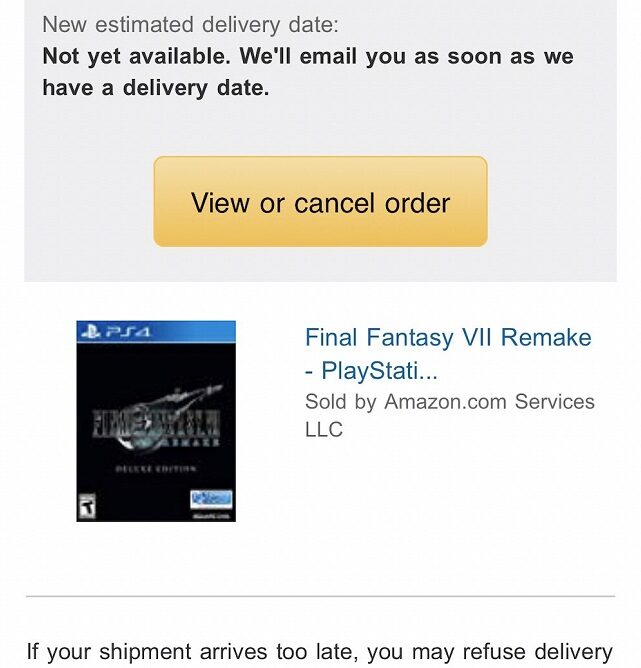 ffvii remake delay