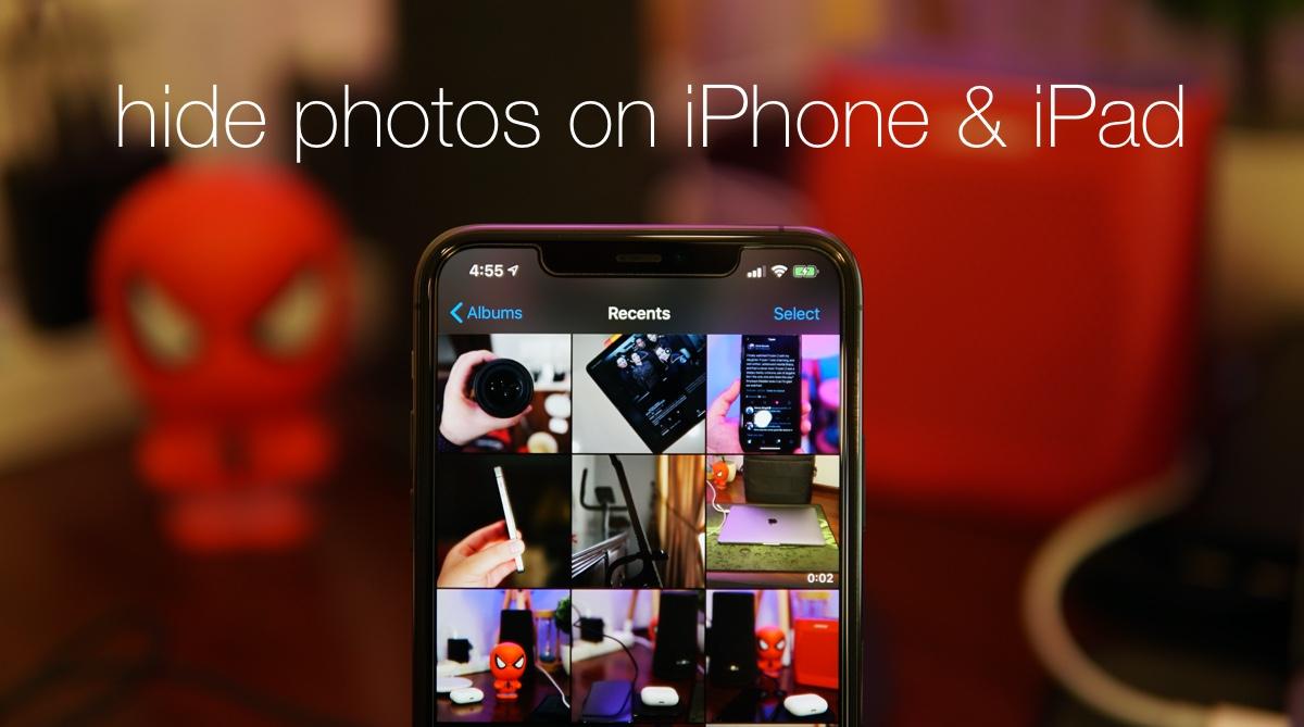 Hide private photos in iOS 13 / iPadOS