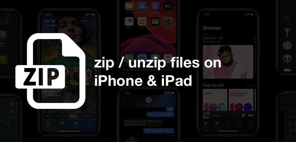 How to zip / unzip files on iPhone and iPad