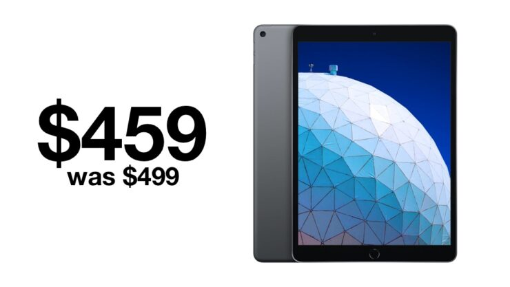 iPad Air in Space Gray is currently $40 off