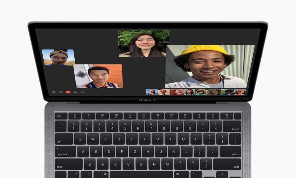 2020 MacBook Air showing 720p FaceTime Camera