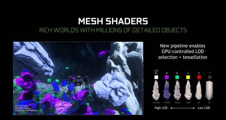 resultado de Xbox Series X en DirectX 12 Ultimate con las Mesh Shaders
